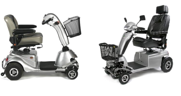 verschil tussen standaard en luxe modellen Quingo 5-wiel scootmobielen