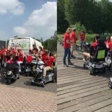 MS scootmobiel- en fietstocht 2018 met Quingo scootmobielen