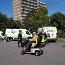 Deelname Quingo aan scootmobieltraining VVN in De Bilt