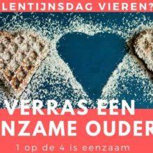 Verras een eenzame oudere met Valentijnsdag!