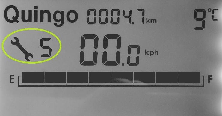 klacht quingo scootmobiel storingsmelding display